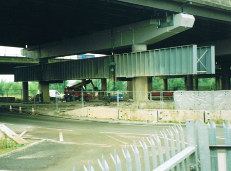 R97 – involving the installation of a 85te Plate Girder system